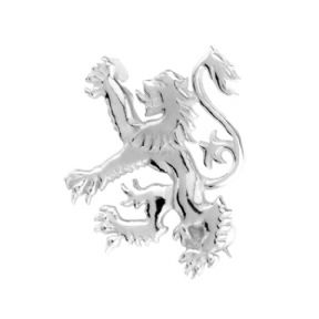 Scottish Lion Silver Plated Brooch 9183